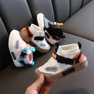 YYTX Real picture Children's shoes casual shoes fashion leather velcro JX0419 YY-1058 NS19
