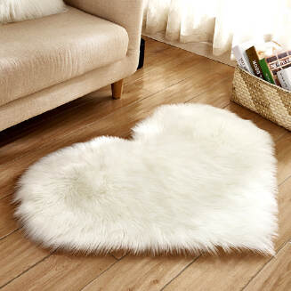 Soft Artificial Plush Rug Chair Cover Warm Hairy Carpet Seat Pad Modern Style Home Decoration