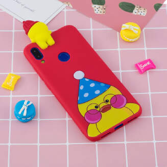 Redmi NOTE 7 3D Cute Coloured Painted Animal TPU Anti-scratch Non-slip Protective Cover Back Case NS19