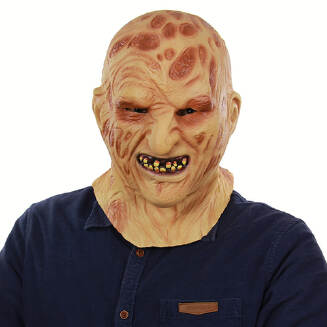 Unisex Scary Burning-face Carrion Monster Mask Latex Costume Head Mask for Halloween Party Prop
