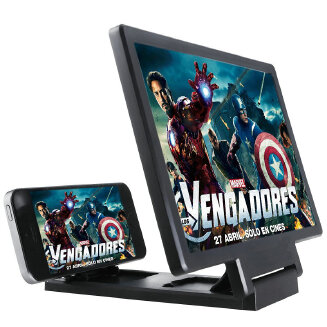 Screen Magnifier,Cell Phone 3D HD Movie Video Amplifier with Foldable Holder Stand For Old and Kids