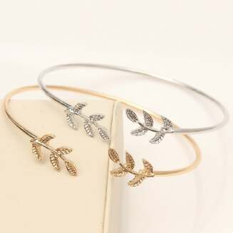 D89575 -FD BIG SALE OFFER Jewelry Leaf bracelet open leaf bracelet JX0310A0105 tp0416 EID Jewelry PFLNKS FD0818