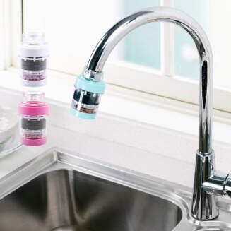 Simple water filter/effective/simple installation/essential for kitchen/essential for bathroom/A box of four