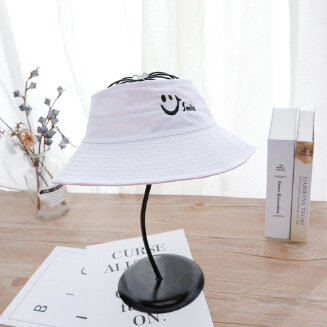 Empty top double-sided fisherman hat White