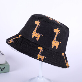 Personality doodle sunhat Black