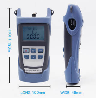 Portable FTTH Fiber Optical Power Meter -70~+10dB Optic Cable Tester Network with FC SC Interfaces for CATV Test,CCTV Test and Telecommunication