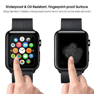 1/2/4 Pcs For Apple Watch Series 4 40/44mm 3D Full Covered Tempered Glass Screen Protector