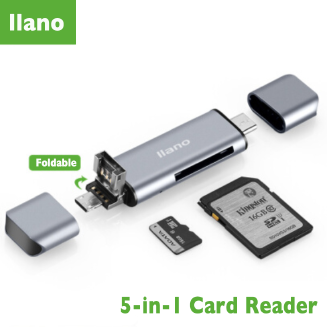 Llano 5-in-1 Card Reader, USB 3.0 (Only Reader)