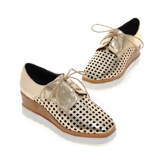 Pinkj Trendy thick-bottomed hole shoes platform shoes