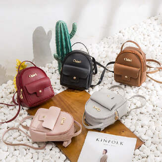 Women Mini Soft Leather Backpack Casual Handbag Shoulder Crossbody Bags