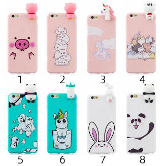 For Samsung A20 E 3D Cute Coloured Painted Animal TPU Anti-scratch Non-slip Protective Cover Back Case