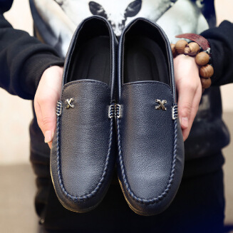 Spring and summer new peas shoes men's casual shoes lazy driving British shoes men's breathable men's shoes jx0425 1005