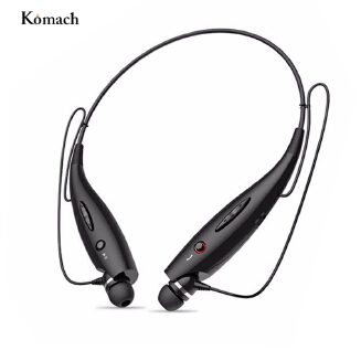 Wireless Bluetooth Headphones Neckband Sport Stereo Headset Bass Earphone for Mobile Phone HBS