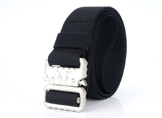 Casual braided Men's Belt Fashion Belt - Black