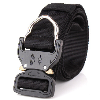 Tactical belt for man - Black