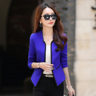 New fashion casual one button small suit jacket women's short suit short jacket JX1008 7099#