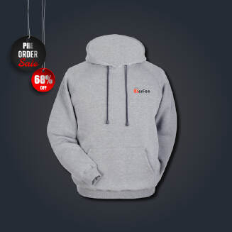 Grey Hoodie for men - Phils Fabric - Winter special with perfee logo - Pre Order Delivery 15-30 days