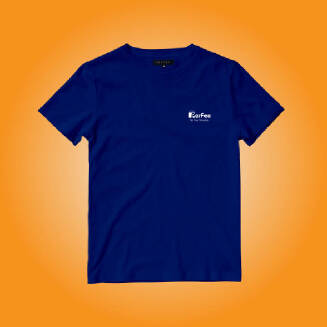 Perfee Royal Blue T-Shirt - Black Friday Pre Order Delivery 7-10 days TS0213