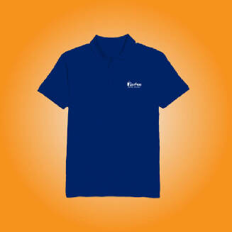 Perfee Royal Blue Polo Shirt - Black Friday Pre Order Delivery 7-10 days TS0213