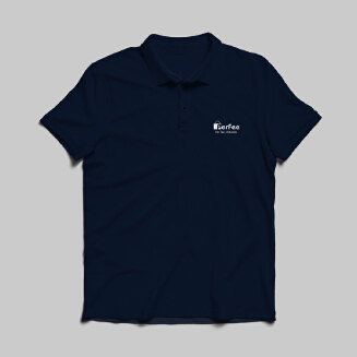 Perfee dark steel blue Polo Shirt - Black Friday Pre Order Delivery 7-10 days TS0213