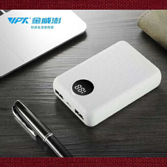 VPX VP28 Power Bank Double USB - 10000mAh with LED Display - polymer A+ Grade batteries, more than 600 times recycle - D04763