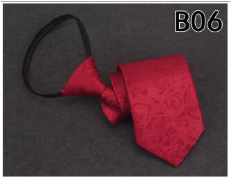 OFFER TIE Men's Tie 8CM Lazy Zipper Tie Easy Pull Business Outfit Work tp0416