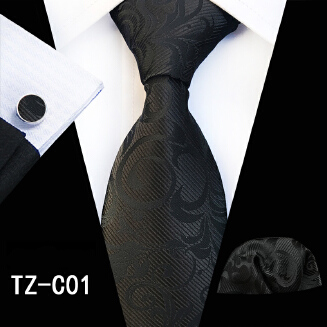 OFFER TIE Hot Men's Tie Pocket Towel Cuffs Three-Piece Set TC-Z