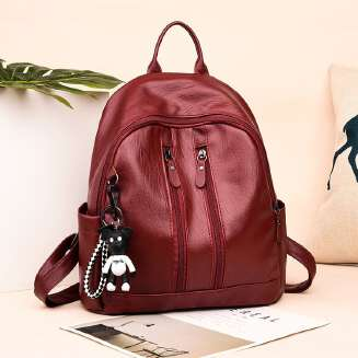 Trend pu soft leather fashion wild simple college wind leisure travel backpack JX0422 00899 ZB0505 EID Bags tp0416 FD0818