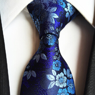 OFFER TIE New Paisley Polyester Men's Big Flower Tie Trendy Suit Men's Tie B