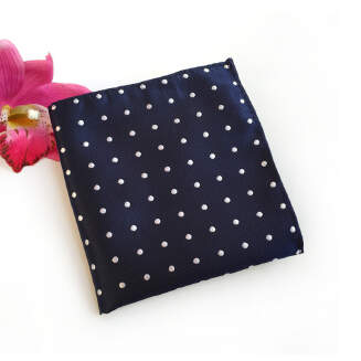 OFFER TIE Men's Handkerchief Square Towel Polyester Material Fashion Dot Wavelet Point Suit Pocket Towel FXY