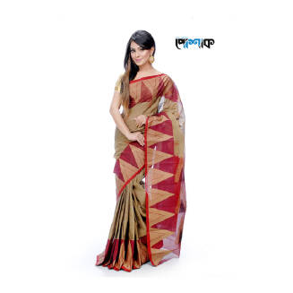 Maslice Cotton Saree - TB-396 - POSHAK