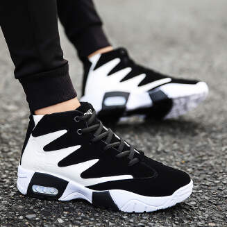 Student color matching trend sports shoes men's high-top casual running shoes JX0425 5004 EID Shoes