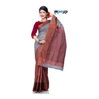 Maslice Cotton Saree - TB-473 - POSHAK