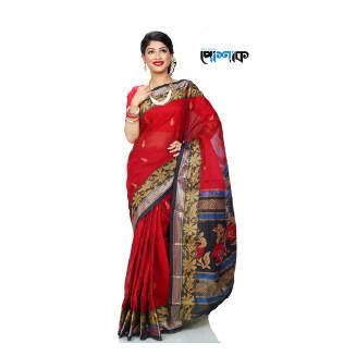 Maslice Cotton Saree - TB-474 - POSHAK