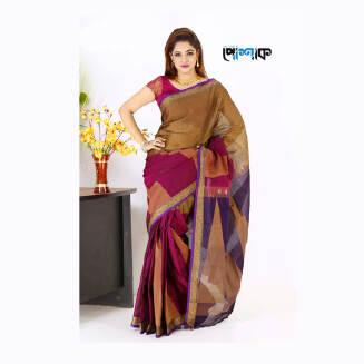 Maslice Cotton Saree - TB-482 - POSHAK
