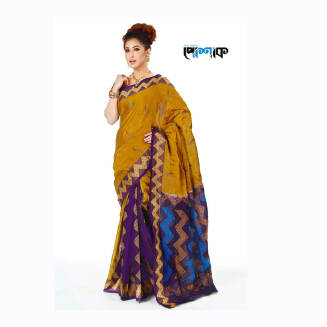 Maslice Cotton Saree - TB-493 - POSHAK