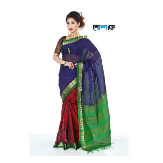 Maslice Cotton Saree - TB-496 - POSHAK