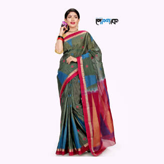 Maslice Cotton Saree - TB-512 - POSHAK